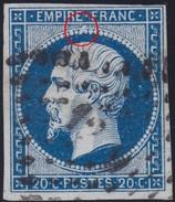 N°14Aa Tache Blanche Sous L'espace Entre Le E Et Le F, Suarnet 3, Position 78G3, TB - 1853-1860 Napoleon III
