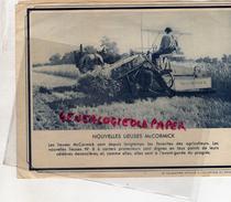 AGRICULTURE - 2 PHOTOS CATALOGUE LIEUSE ET DECHAUMEUSE MC CORMICK - Agriculture