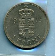 1975 1 COURONNE - Denmark
