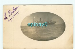 GUYANE -  CARTE PHOTO Du Paquebot Transatlantique  LE BISKRA - Service Antilles - Guyane