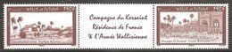 Wallis Und Et Futuna 2009 Kersaint Michel No. 997-98 Se Tenant Avec Vignette Zierfeld MNH Postfrisch Neuf - Wallis Und Futuna