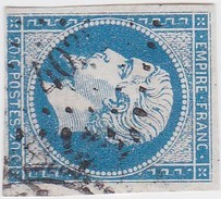 N° 14 A   -  PC 4038   GRANDIS   /  RHONE  - LOT 12118  INDICE 13  COTE 100€ + VARIETE POSTFS  1 ère étape - 1853-1860 Napoléon III
