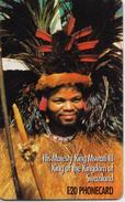 SWAZILAND  PHONECARD (CHIP) KING MSWATI Iiii -SWA 002-USED(bx1) - Swaziland