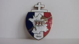 SUPERBE **** INSIGNE FFI 1944 - RESISTANCE LIBERATION DE LA FRANCE - CROIX DE LORRAINE *** ACHAT IMMEDIAT !!! - Badges & Ribbons