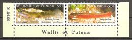 Wallis Und Et Futuna 2009 Poissons Gobie Gougeon Süßwassergrundeln Michel No. 991-92 Paar Se Tenant MNH Postfrisch Neuf - Wallis Und Futuna
