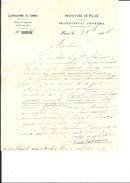 Ref 07/ 75, Paris, Préfecture De Police, Laboratoire De Chimie, 1904, Pour Moulins 03 - France