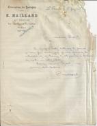 LE THIEULIN E MAILLARD ENTREPRISE DE BATTAGE LETTRE ANNEE 1920 MANQUE A DROITE - Royaume-Uni