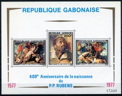 Gabon, 1977, Rubens Paintings, Art, MNH, Michel Block 32