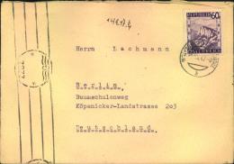 1947, 60 Gr. Landschaften Auf Brief Mit Britischer Zensur ZZBZ Ab Wolfsberg Nach Deutschland - 1945-60 Cartas