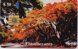 ZIMBABWE  PHONECARD (CHIP) FLAMBOYANTS  -ZIM 26-USED(bx1) - Zimbabwe