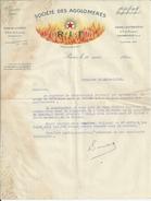 PARIS USINE A COURBEVOIESOCIETE DES AGLOGLOMERES RIF LETTRE ANNEE 1921 - Royaume-Uni
