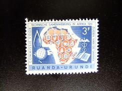 RUANDA - URUNDI 1960 10º ANIVERSARIO DE COOPERACION AFRICA Y SAHARA Yvert & Tellier Nº 218 * MH - Ruanda