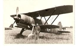 """CT--N--1994-- CARTOLINA DI CORRISPONDENZA - FIAT C.R. 42 - """" ( FALCO ) - 1939-1945: 2a Guerra"""