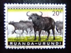 RUANDA - URUNDI 1959 FAUNA Dieren Animaux Animales Yvert Nº 206 º FU - Ruanda