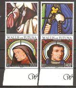 Wallis Und Et Futuna 2008 Vitraux Glasfenster Kirche Lano Michel No. 974-75 MNH Postfrisch Neuf - Ungebraucht