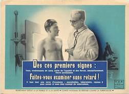 Ref U185-size -dimensions Environ: 14,5cms X10,5cms - Santé - Medecine -examen Contre La Tuberculose - Carte Bon Etat - - Santé