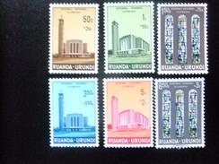 RUANDA - URUNDI 1961 CATEDRAL USUMBURA - Yvert & Tellier Nº 225 / 230 ** MNH - Ruanda