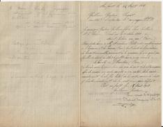 SAINT HILAIRE SUR ERRE PREAU L HERMITIERE LETTRE DE MR GUILLEMIN  AU FRONT DU 104 EME REGIMENT D INFANTERIE 11 C  1918 - Royaume-Uni