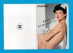 Cartes Parfumées Carte CHANEL COCO MADEMOISELLE De CHANEL DOUBLE RECTO VERSO CARTE AMÉRICAINE - Cartes Parfumées
