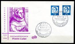 """Germany 1961 First Day Cover Mi.Nr.351x U.Y Ersttagsbrief""""Freimarke Bedeutende Deutsche.Martin Luther,Reformator """"1 FDC - Cristianesimo"""