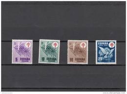 España Nº 1084 Al 1087 - 1951-60 Nuevos & Fijasellos
