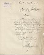 TRUN ORNE MR LAMBAL  AGENT D ASSURANCE L ABEILLE ANNEE 1895 A MME MOULIN AU THEIL SUR HUISNE AU BUREAU DE POSTE - Royaume-Uni