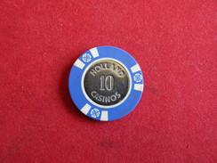 Jeton De Casino - 10 Euro Chip Fron Holland Casino In Amsterdam Holland - Casino