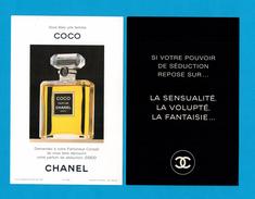 Cartes Parfumées Carte CHANEL COCO  De CHANEL  RECTO VERSO CARTE FRANÇAISE - Modernes (à Partir De 1961)