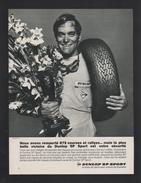 Pub Papier 1968  Automobile PNEU DUNLOP Usine Montluçon  Sport Pilote - Advertising