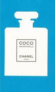 Cartes Parfumées Carte CHANEL COCO MADEMOISELLE  De CHANEL  RECTO VERSO - Modernes (à Partir De 1961)