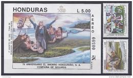 COLON - HONDURAS 1992 - Yvert #A783/84+H47 - MNH ** - Cristoforo Colombo