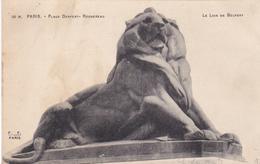 75 - PARIS - Place Denfert Rochereau - Le Lion De Belfort - Squares