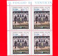 Nuovo - MNH - ITALIA - 1974 - Arte - 1ª Emissione: Giorgio Vasari - Quartina - 90 L. - Palazzo Degli Uffizi - 1971-80: Ungebraucht