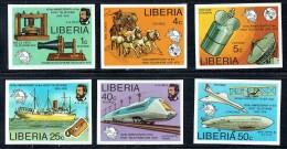 1976  Centenaire Du Télèphone  -Série De 6 Non Dentelés ** - Liberia