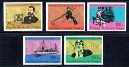 1976  Centenaire Du Télèphone  -Série De 5 Non Dentelés ** - Madagaskar (1960-...)