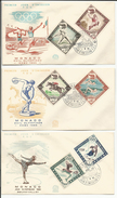 Jeux Olympiques 1960 à Rome Et Squaw Valley, 3 FDC Monaco (1.6.60)