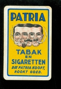Speelkaart ( 076 ) 1 Losse Kaart - Publicité  Reclame Tabac Tabak Cigare Sigaar Cigarette Sigaret - PATRIA - Cartes à Jouer Classiques