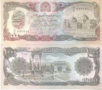 BILLETE BILLET 1000 AFGHANIS DA AFGHANISTAN BANK BANKNOTE TRES BON ETAT AFGANISTAN - Afghanistan