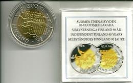 5 EUROS FINLANDIA 2007 90 ANIV. INDEPENDENCIA - Finlandía