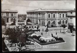 TORREMAGGIORE - Monumento Ai Caduti - Edificio Scolastico, Cartolina Anni 60 Con Tram - Foggia