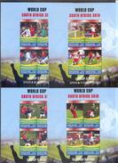 Grenadines Of St. Vincent World Cup-2010 Set 7 Sheetlets+S/Sheet  MNH