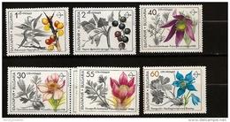 Bulgarie Bulgaria 1991 N° 3418 / 23 ** Fleurs Médicinales, Pulsatilla, Aquilegia Nigricans, Hippophae Rhamnoides, Ribes