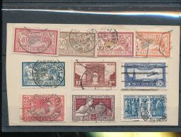 1900 - 1934 France / Frankreich - Smal Lot Of Used Stamps On Paper - As Per Scan