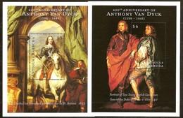 Antigua & Barbuda 2000 Yvertn° Bloc 456-457 *** MNH Cote 17,50 Euro Peintre Antoine Van Dyck Anthony - Antigua Et Barbuda (1981-...)