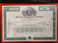 Massey Fergusion Limited MF 100 Shares Canada 1976 - Transports