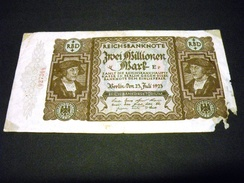 ALLEMAGNE 2 Millionen /2000000 Mark 23/07/1923 , Pick N° 89 , GERMANY - [ 3] 1918-1933 : Repubblica  Di Weimar