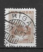 Mi 237 Met Brugstempel Riga - Lithuania