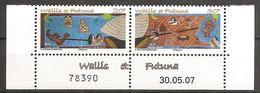 Wallis Und Et Futuna 2007 Contes Et Legendes Sagen Und Legenden Michel No. 954-55Z Pair Se Tenant MNH Postfrisch Neuf - Ungebraucht