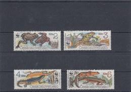 Tchécoslovaquie - Amphibiens - Neufs** - Année 1989 - Y.T. N° 2808/2811 - Cecoslovacchia