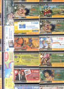125  SUBWAY CARDS - 125 DIFFERENTE METRO CARDS - TARJETAS SUBTERRANEO  SUBTEPASS ARGENTINE TBE - Argentina